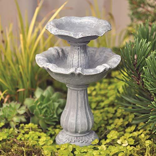 Fiddlehead Fairy Gardens Doppel-Vogeltränke Miniatur-Zubehör