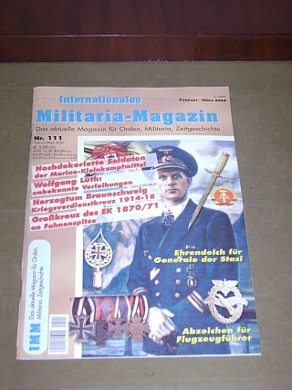 Internationales Militaria-Magazin Nr.111 (Februar/März 2004)
