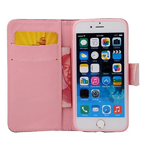 MOONCASE Étui pour Apple iPhone 6 / 6S (4.7 inch) Printing Series Coque en Cuir Portefeuille Housse de Protection à rabat Case Cover ZD13 ZD07 #1230