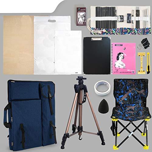 Xuping set di cavalletti da disegno, cavalletto portatile pieghevole multifunzione, uso professionale del disegno (colore : blu)