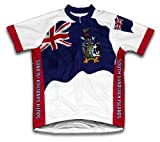 Géorgie du Sud et des Îles Sandwich du Sud Drapeau à manches courtes Maillot de cyclisme pour femme Large Blanc - blanc
