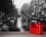 Fototapete selbstklebend Amsterdam - Niederlande - schwarz