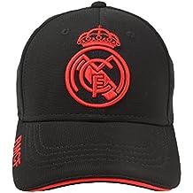 Real Madrid FC Gorra Adulto Producto Oficial Negra Rojo 2018 2019 547142808e0