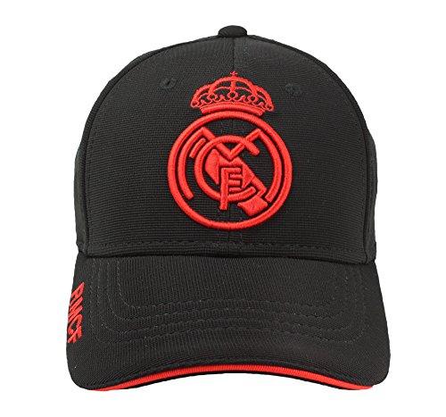 c65da81a Real Madrid FC Gorra Adulto Producto Oficial Negra Rojo 2018/2019