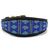 Zinj Design Rafiki Lurcher Hundehalsband, Größe S, Blau
