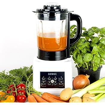 Duronic BL89 Blender chauffant 1,75 l - Fonctions soupe crémeuse / moulinée, cuisson vapeur, réchauffer, mixer, smoothie