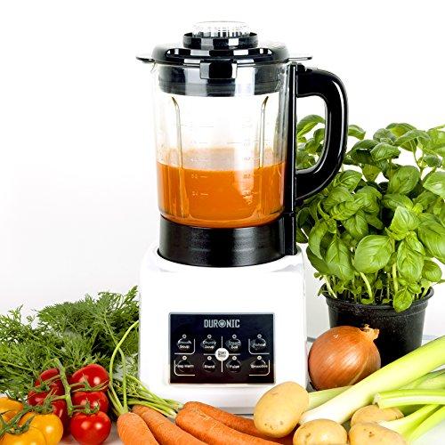 Duronic BL89 Blender chauffant 1,75 l - Fonctions soupe crémeuse/moulinée, cuisson vapeur, réchauffer, mixer, smoothie
