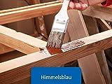 Holzfarbe seidenmatt Holzlack BEKATEQ BE-420 Holzschutzfarbe auf Wasserbasis Holzmöbel streichen (1L, Blau)