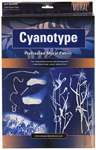 Motif Jacquard Cyanotype Pretreat Fbrc 5 x 7 cm