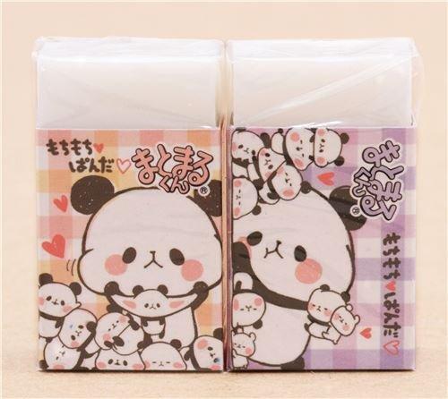 Lustiger Panda Herz duftender Radiergummi von Kamio aus Japan