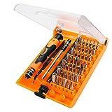 Tool Kit Reparatur Tragbare Smartphone magnetisch CR-V Kit Schraubendreher Sechskant, Tablet, Uhren, MacBook, PC und Geräte geeignet für die Reparatur des digitalen Produkt (45in 1)