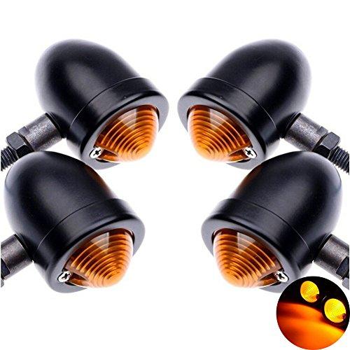TUINCYN Faros intermitentes para motocicleta, aluminio anodizado, intermitente, 12V CC, 4piezas, color...