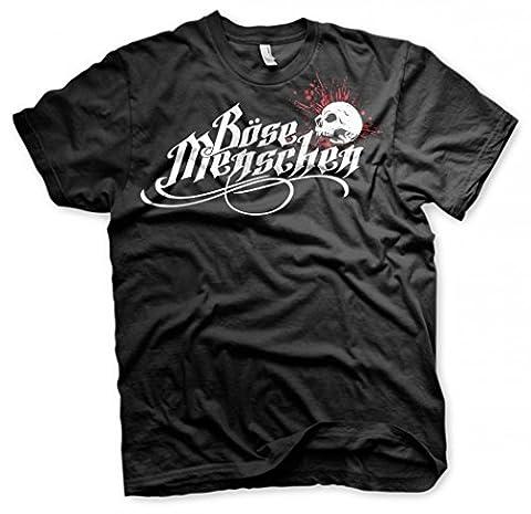 Böse Menschen Logo, Tshirt Größe