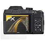 atFoliX Schutzfolie für Nikon Coolpix B500 Displayschutzfolie - 3 x FX-Antireflex blendfreie Folie