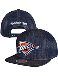 003f6fb4216 Oklahoma City Thunder Mitchell   Ness Dark Denim Front Trucker Mesh Back  Snapback Hat