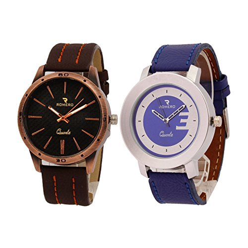 Romero Empire and imblu Analog Leather Strap Combo Men's Watch - RC002