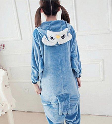 Nanxson(TM) Pyjama À Capuche Une Pièce En Flanelle Cosplay Animaux Hibou Pour Adulte Unisexe LTW0019 Bleu