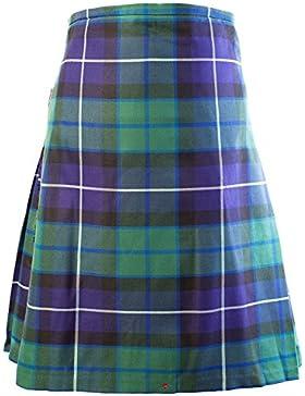 Gents Scottish Kilt Full 8 Yard 24in Drop Waist 28-30 Colour Freedom Tartan