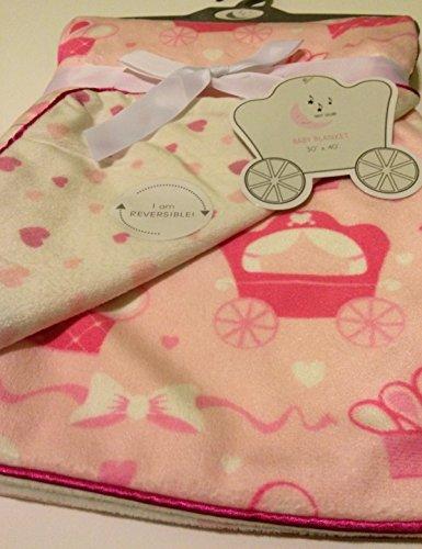 couronnes et wagons Couverture pour bébé réversible par Sweet Lullaby