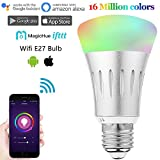 Ampoule wifi RGB + Froid Chaud, Smart Led sans fil E27, Led Ampoule intelligent 5060 multicolore, Lampe de minuterie pour décoration télécommande par Smartphone IOS & Android avec Alexa Echo IFTTT