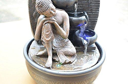 Zen'Light Thai Penseur Statue Bouddha, Résine, Bronze, 13 x 12 x 20 cm