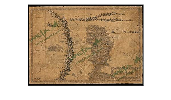 picture regarding Weta Uk Printable Schedule known as Map Of Wilderland Artwork Print against The Hobbit An Unpredicted