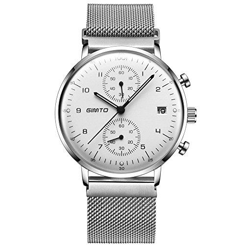 2eede54d2466 LikeBlue Superficie abovedada Reloj ultra delgada del cuarzo del negocio de  los hombres Cronógrafo Correa del