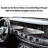LFOTPP Navigation Protection d'écran pour Mercedes-Benz Classe E Système de Navigation Film Protection en Verre Trempé Et Tableaux de Bord Protection d'écran - 9H Anti-rayures