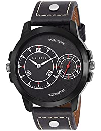 Laurels Black Color Analog Men's Watch With Strap: LWM-DKE-020202