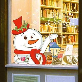 Tuopuda Murales Muñeco de nieve Extraíble Bricolaje Etiqueta de la pared impermeable extraíble del arte calcomanía decoración para Ventanas Vidrios Navidad Decoración