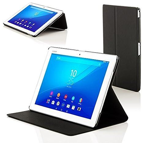 Forefront Cases® Neue Hülle / Tasche / Case / Cover für Sony Xperia Z4 Tablet-PC (25,6 cm 10,1 zoll) SGP771 (Juni 2015) - Rundum-Geräteschutz und intelligente Auto-Sleep-Wake-Funktion mit 3-JAHRES-GARANTIE VON FOREFRONT