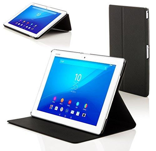 sony tablet z4 Forefront Cases® Sony Xperia Z4 10.1 SGP771 Smart Custodia Caso Case Cover Conchiglia - Ultra Sottile con Protezione Dispositivo Completa e funzione Auto Sveglia/Sonno (NERO)
