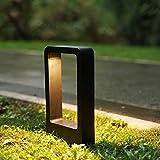 ZMH Wegeleuchte LED 7W 3000K Wegelampe LED Sockelleuchte Pollerleuchte 30cm Außenleuchte schwarz IP65 Garten Terrassen-Leuchte