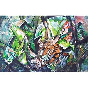 Karton exotische Blumen A4 Karton Wohnzimmer Bilder Wand Bilder Bilder Büro Bild groß Gemälde Kunst Wanddekoration Handmade Bilder Exclusiv Bild Original Geschenk Weihnachtsgeschenk Unikat