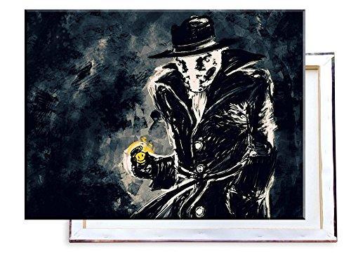 (Rorschach Watchmen - 80x60 cm - Bilder & Kunstdrucke fertig auf Leinwand aufgespannt und in erstklassiger Druckqualität)
