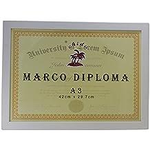 Marco blanco para diploma A3 de 29,7 x 42 cm