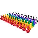Hestya 96 Stück 1 Zoll Kunststoff Schachfiguren aus Kunststoff für Brettspiele, Komponenten, Tisch Markierungen, Kunsthandwerk