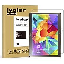 Samsung Galaxy Tab S 10.5'' (SM-T800/SM-T805) Protector de Pantalla Cristal, iVoler® Film Protector de Pantalla de Vidrio Templado Tempered Glass Screen Protector para Samsung Galaxy Tab S 10.5'' (SM-T800/SM-T805) - Dureza de Grado 9H, Espesor 0,30 mm, 2.5D Round Edge-[Ultra-trasparente] [Anti-golpe] [Ajuste Perfecto] [No hay Burbujas]- Garantía Incondicional de 18 Meses