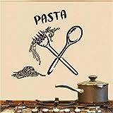 Cmdyz Italienische Pasta Lebensmittel Mahlzeit Küche Wandkunst Aufkleber Löffel Folk Cafe Wandtattoo Home Diy Dekoration Removable Decor Wandaufkleber