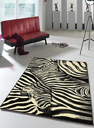 Alfombra de salón BC cebra Kitch Undefined diseño moderno, beige, 160 x 230 cm