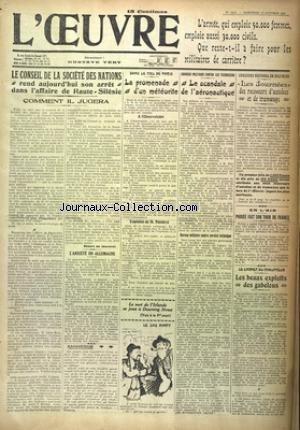 OEUVRE (L') [No 2203] du 12/10/1921