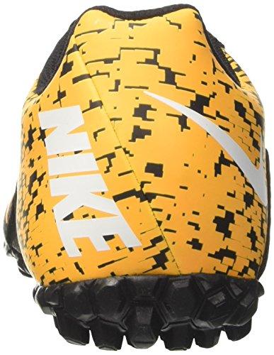 Nike Herren bombax TF Fußballschuhe Schwarz (Black/white/laser Orange)