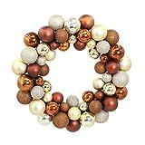 """Kransen 13.6"""" Kroon van Kerstmis Shatterproof Ball Ornamenten Partij van het Huis Decors Kransen Voordeur decoratieve Opknoping ballen Krans slingers (Color : Brown)"""