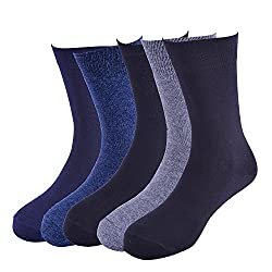 Arrow Mens Calf Length Soft Combed Cotton Pack of 5 Pair Socks