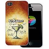 dessana Cocktail Rezepte Transparente Silikon TPU Schutzhülle 0,7mm Dünne Handy Tasche Soft Case für Apple iPhone 4/4S Kamikaze