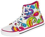 Beppi Damen Hi Sneaker Boots   Modische Straßenschuhe  Stiefel mit Buntem Muster   mit Schnürsenkel   Größe: 35