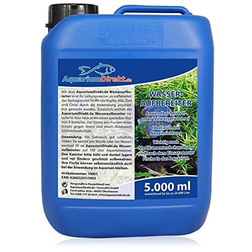 AquariumDirekt Wasseraufbereiter für das Aquarium 5 Liter (GRATIS Lieferung in DE - Perfekt bei Voll- oder Teilwasserwechsel und bei Neueinrichtung - Wasseraufbereitung - Leitungswasser)
