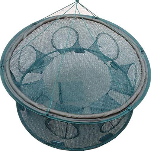 Inicio Stärken Automatische Fischernetz Faltbare Fang Falle Käfig Runde Form Langlebig Offen Für Krebse Krebse Hummer Angeln Garnelen