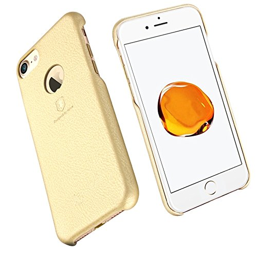 GHC Cases & Covers, Für iPhone 7 Litchi Texture PU + PC Paste Skin Schutzhülle ( Color : Brown ) Gold