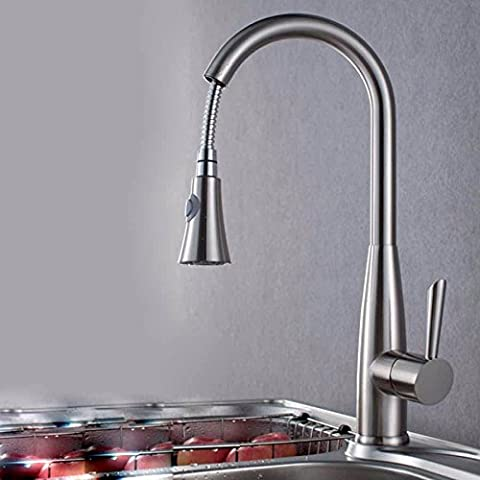 ASIBG Home Kitchen Sink Tap, All Copper Pull Hot And Cold Mixed Tap